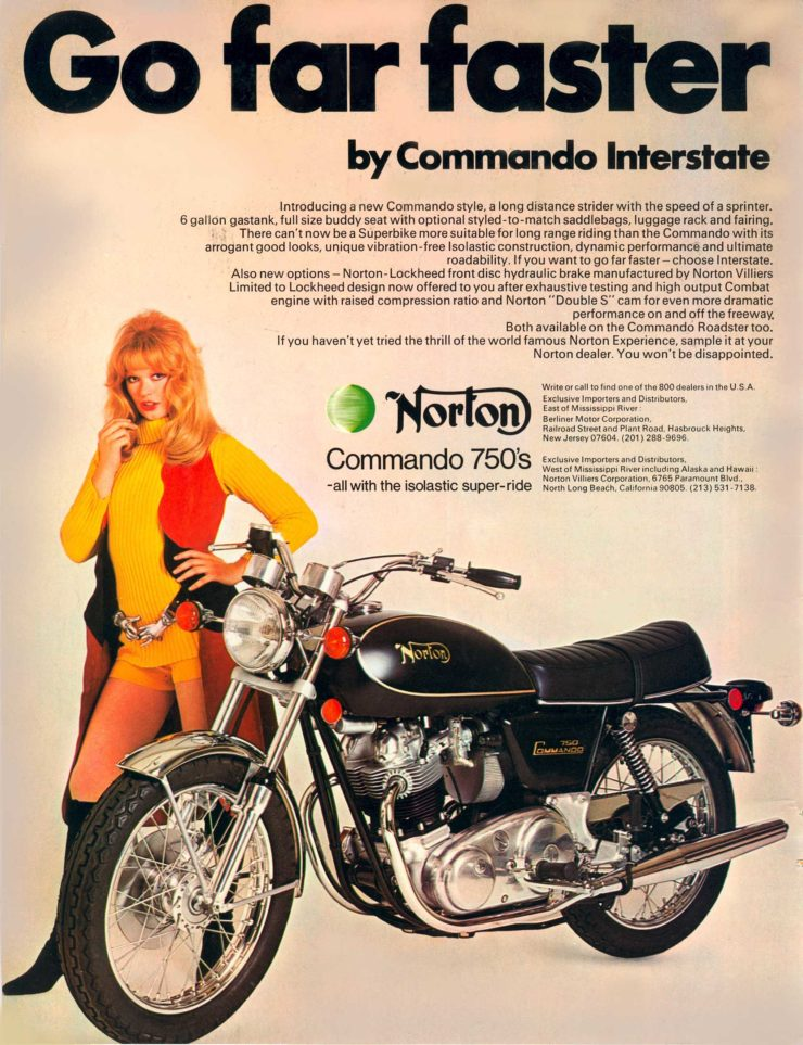 Norton Motorcycle Ad Go Far Faster