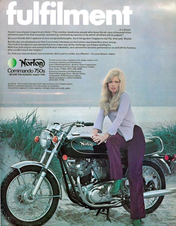 Norton Motorcycle Ad