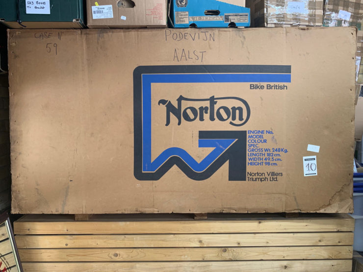Norton Motorcycle Crate