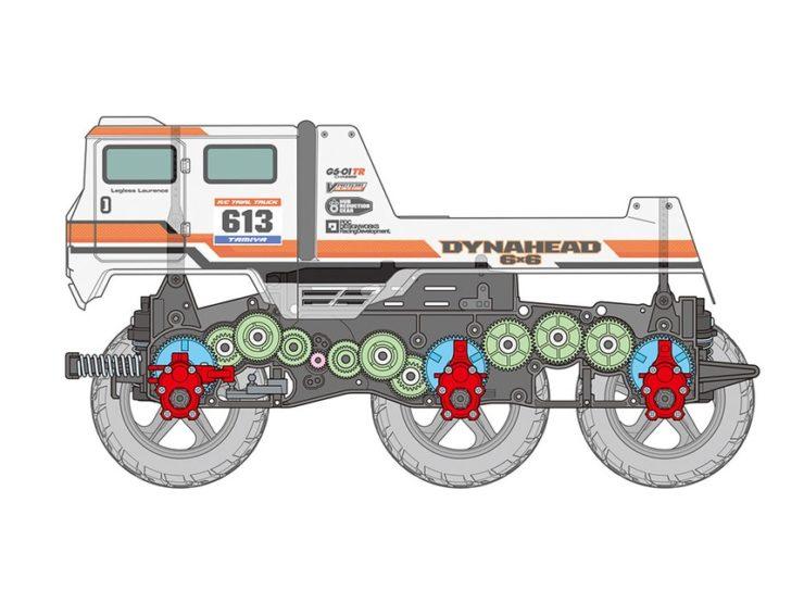 Tamiya Dynahead 6x6 RC Truck Drive System