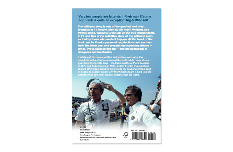 Williams – The Legendary Story Of Frank Williams And His F1 Team In Their Own Words Book Back