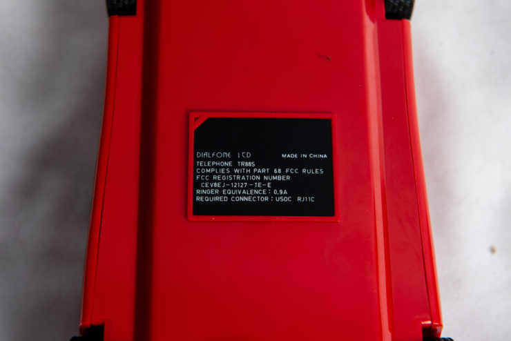 Ferrari Testarossa Phone ID Plate