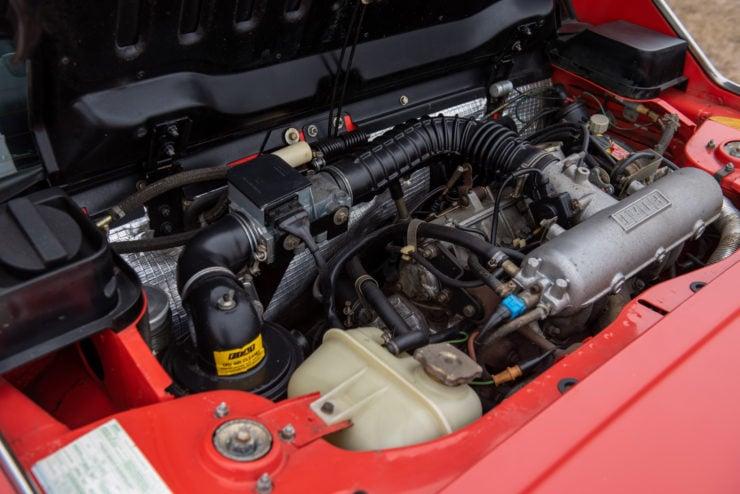 Fiat Bertone X1/9 sports car engine