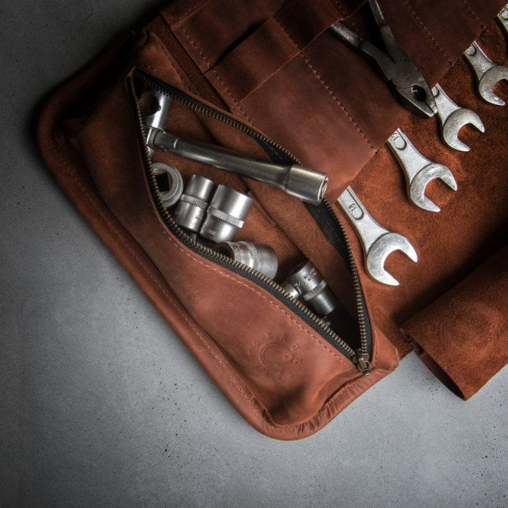 Leather Tool Roll by Kruk Garage 4