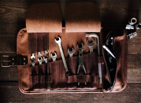 Leather Tool Roll by Kruk Garage