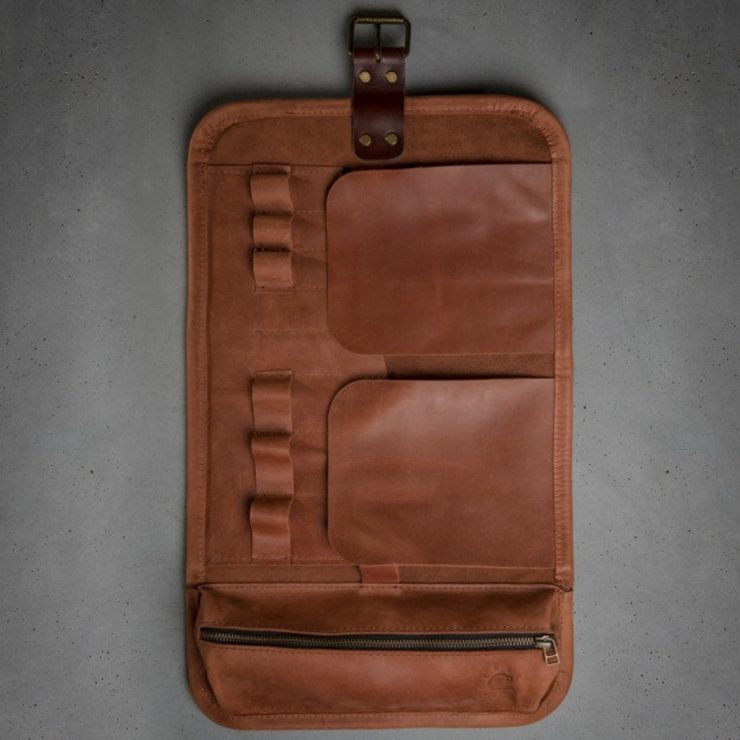 Leather Tool Roll by Kruk Garage 6