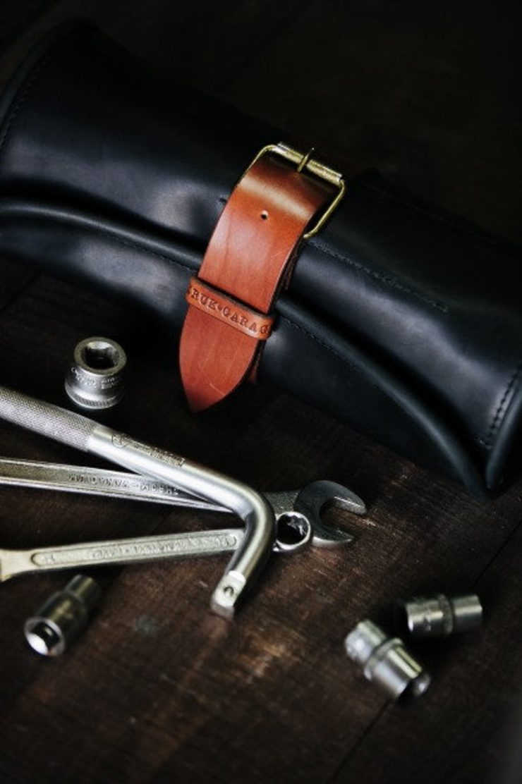 Leather Tool Roll by Kruk Garage 7