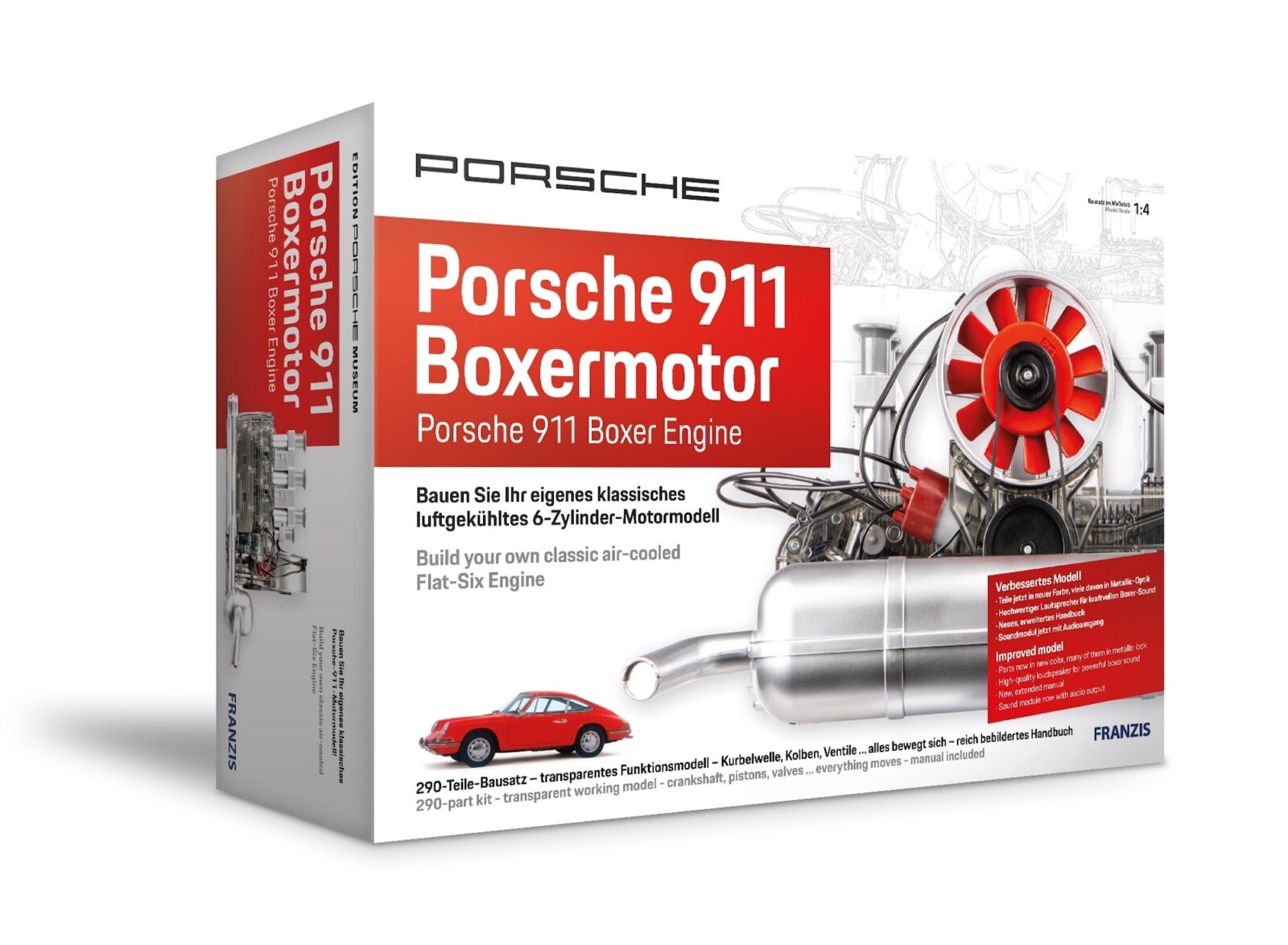 Porsche 911 Flat-Six Engine Model Box