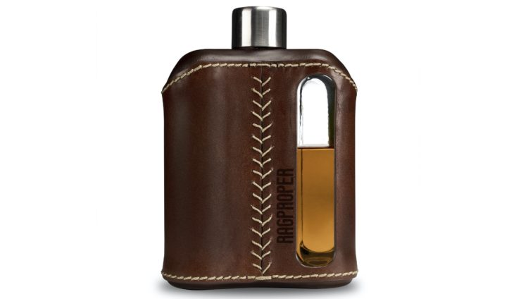 Ragproper Leather + Glass Flask Back