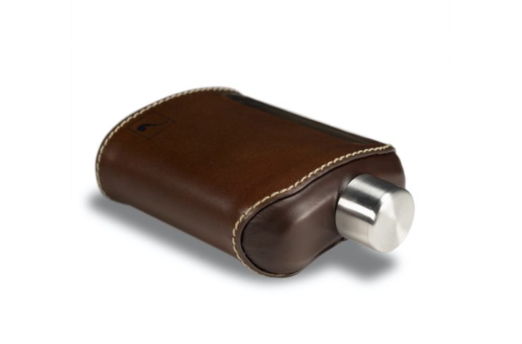 Ragproper Leather + Glass Flask Top