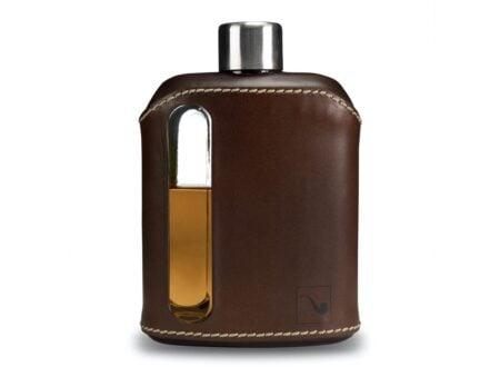 Ragproper Leather + Glass Flask