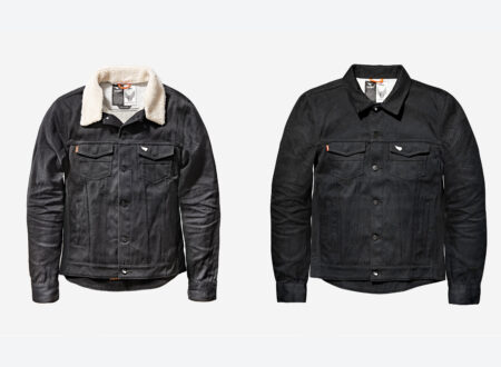 Saint Unbreakable Denim Shearling Collar Motorcycle Jacket