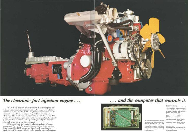 Volvo P1800 sports car engine