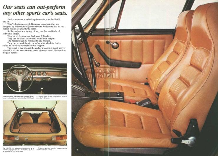 Volvo P1800 sports car interior