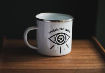 Watch For Cycles Enamel Mug