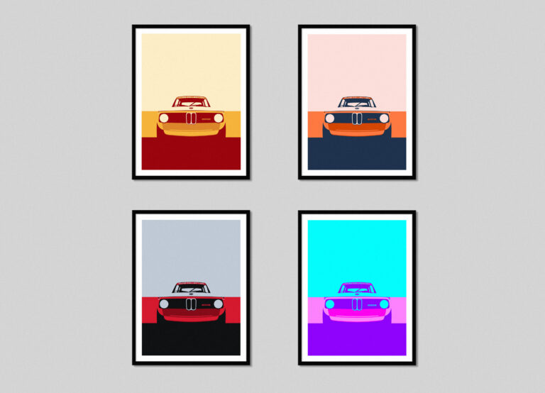 Layered 2002 - A New BMW 2002 Poster Print Series by Cure Collection