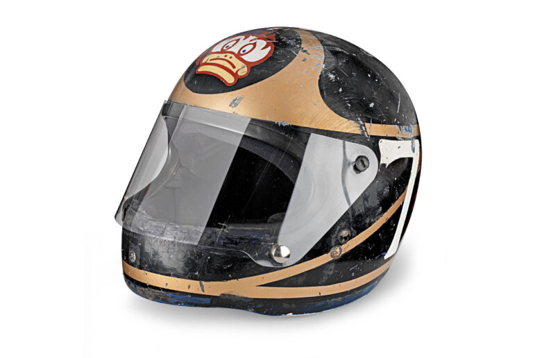 For Sale: Barry Sheene's 1977 AGV X3000 Prototype Helmet