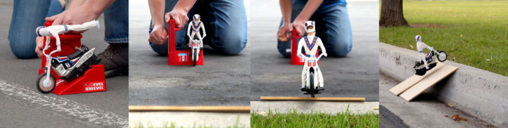 Evel Knievel Stunt Cycle Collage 2