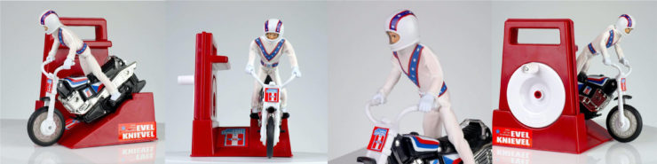 Evel Knievel Stunt Cycle Collage