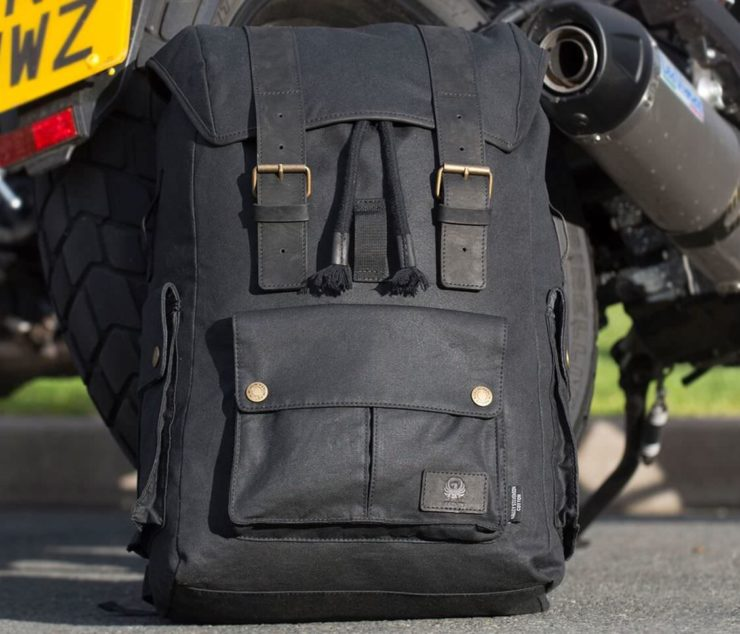 Merlin Ashby Waxed Cotton Motorcycle Bag