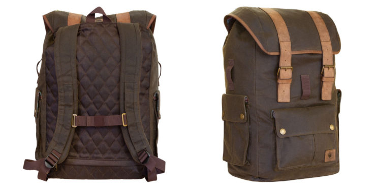 Merlin Ashby Waxed Cotton Motorcycle Rucksack Olive