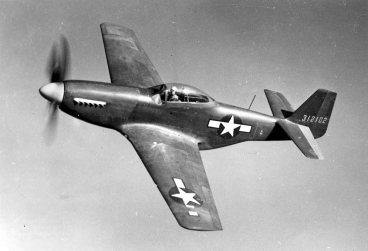 The prototype for the P-51D