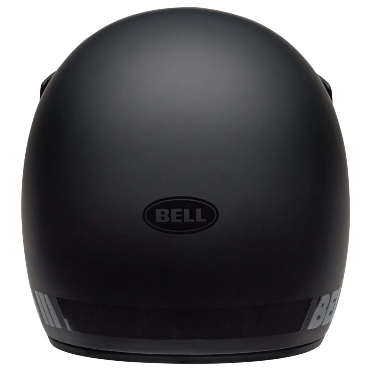 Bell Moto-3 Blackout Helmet Back