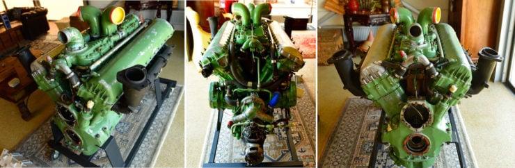 Rolls-Royce Merlin Meteor V12 Engine Collage