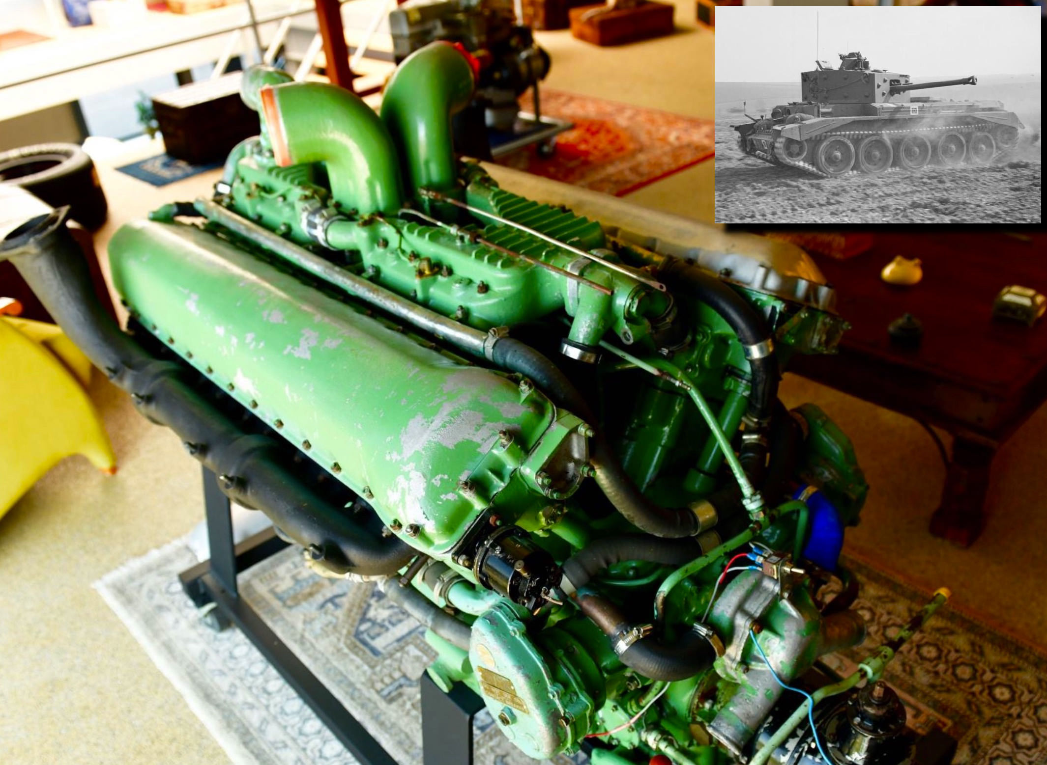 Rolls-Royce Merlin Meteor V12 Engine Hero