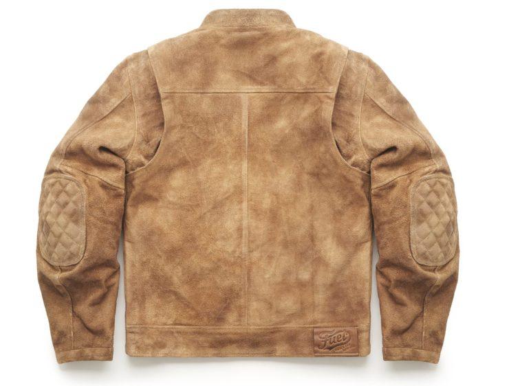 Sidewaze Motorcycle Jacket From Fuel Buffalo Leather Back