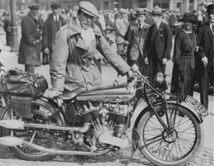 George Brough spit and polish motorcycle