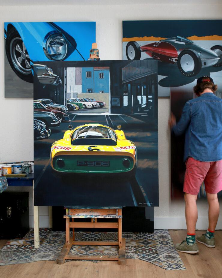 Manu Campa Classic Car Art 1