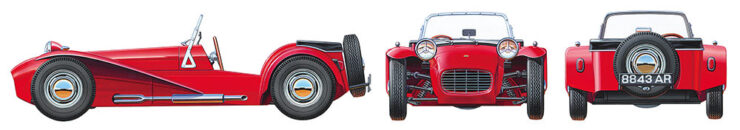 Tamiya Lotus Super 7 Series II 1 24 Scale Kit Sngles