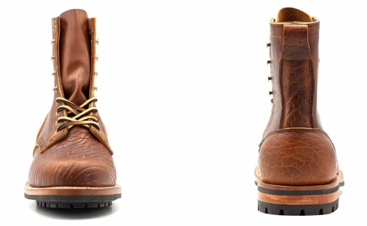Bison Leather Boots Front + Back