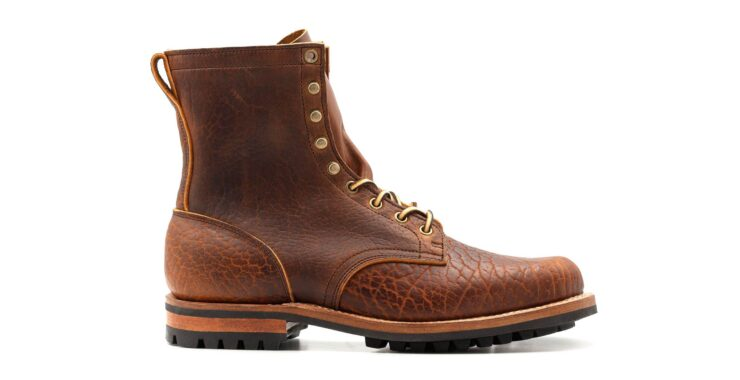 Bison Leather Boots Side