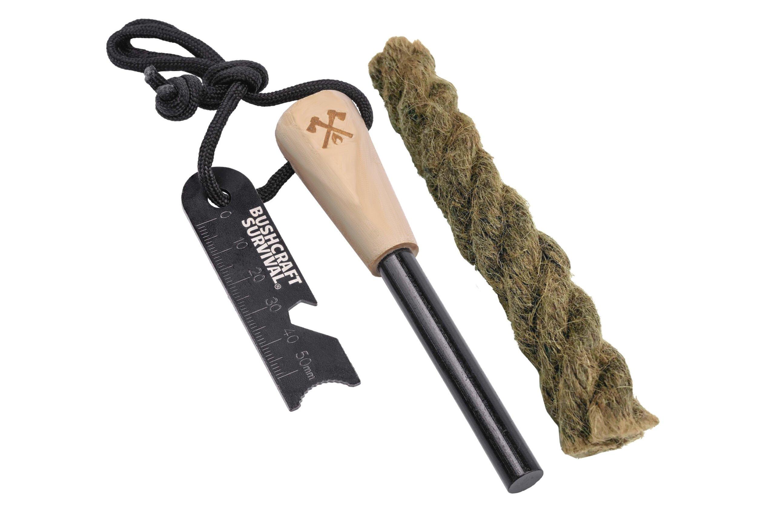 Bushcraft Survival Ferro Rod + Fire Starting Rope Survival Kit – $17.95 USD