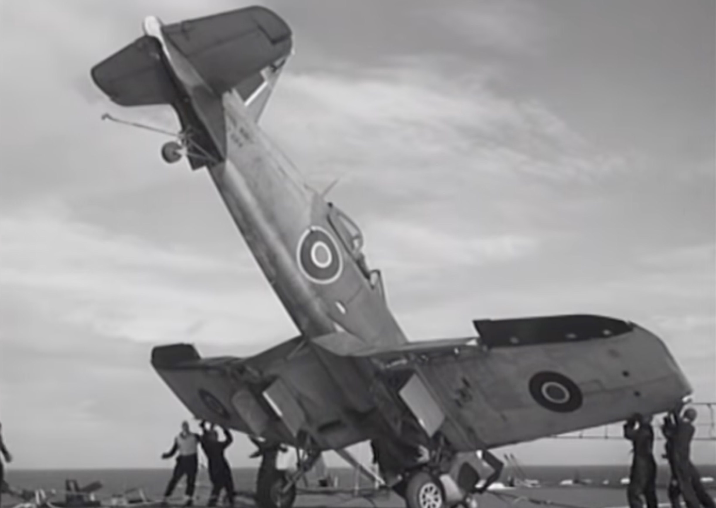 Corvair Crash WW2 Aircraft Carrier