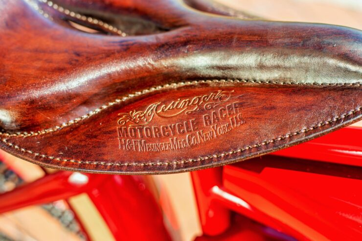 Indian Board Track Racer Saddle
