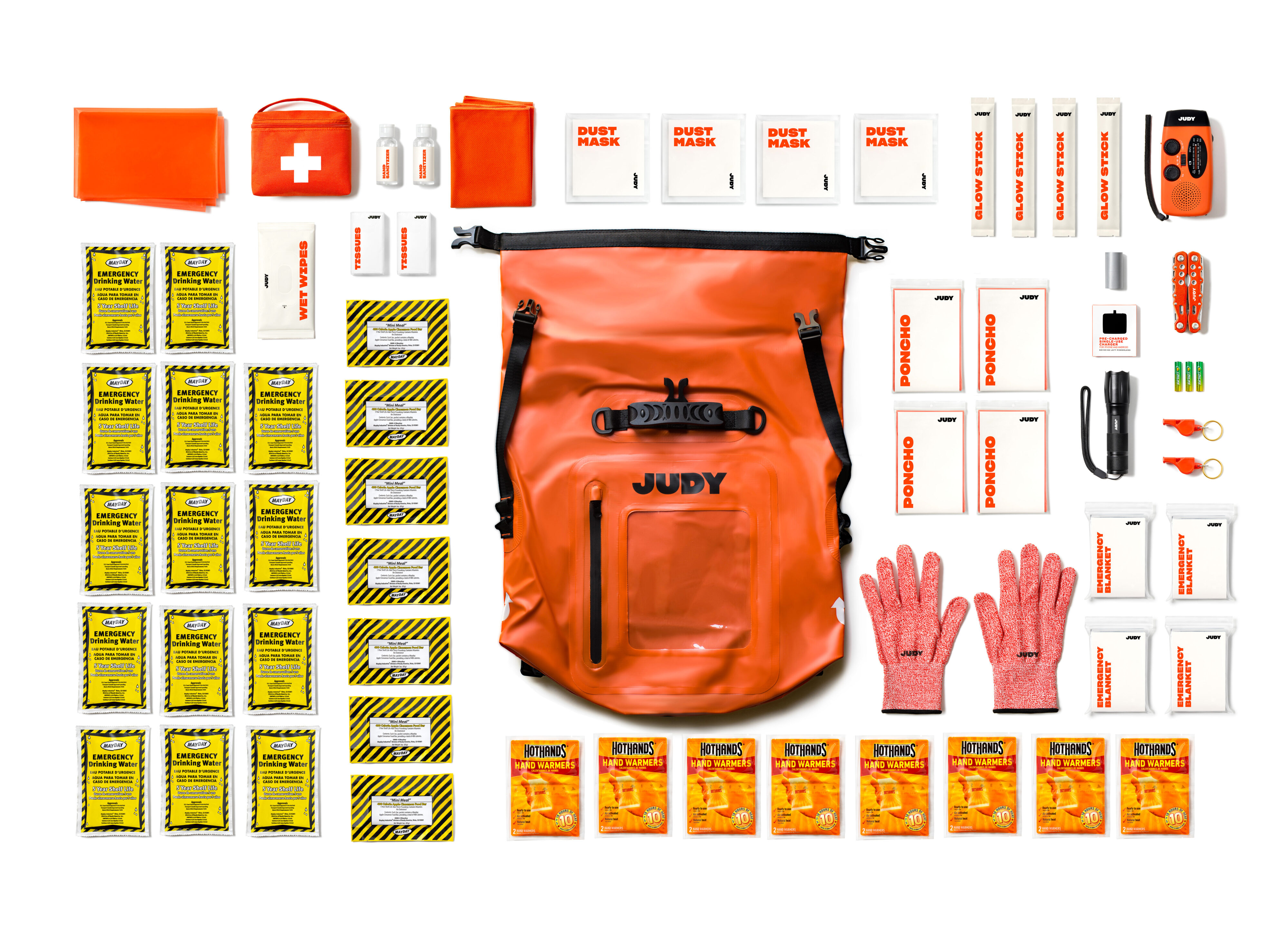 Judy – The Mover Max Survival Kit Contents