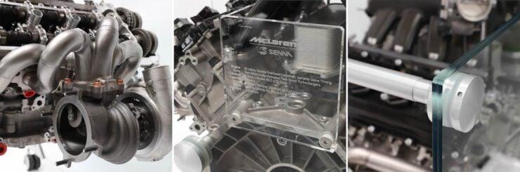McLaren Senna Engine Collage