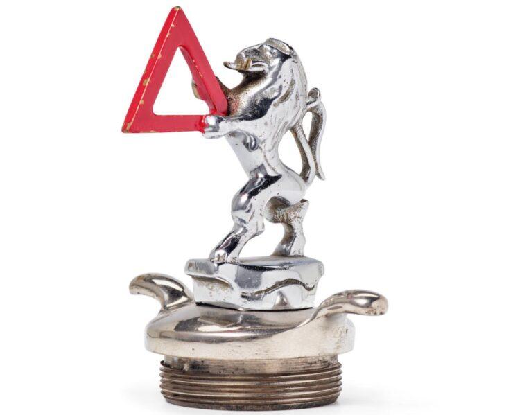 A Rampant Lion Mascot