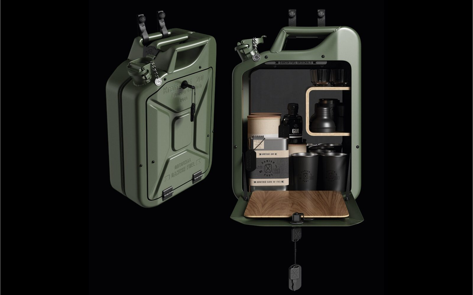 Jerry Can Bar Cabinet By Danish Fuel Hero