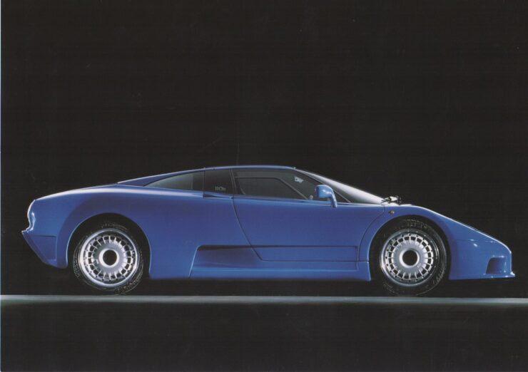 Bugatti EB110 Side Profile