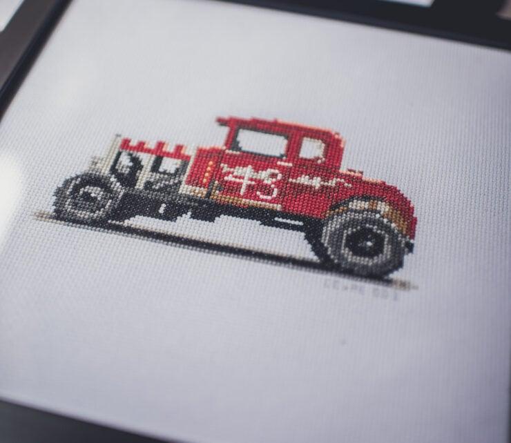 CforCROSSSTITCH Automotive Cross Stitch 1