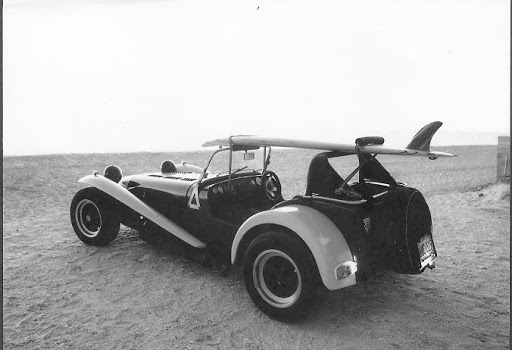 Lotus 7 With Surfboard Roof Rack