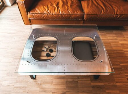 Aircraft Window Coffee Table