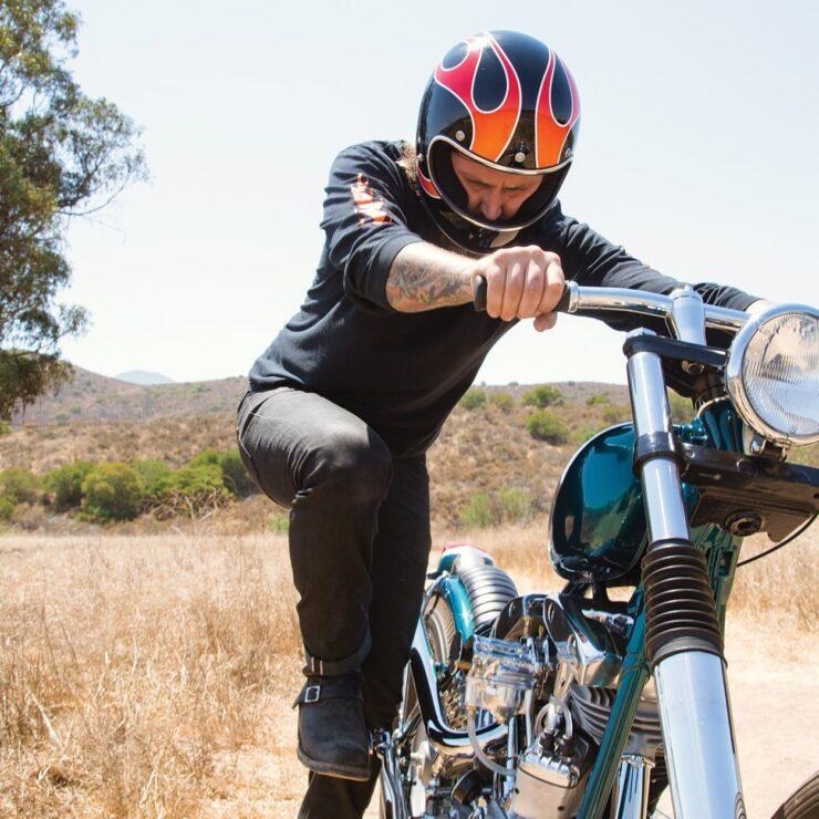 Biltwell Gringo ECE Dice Flame Helmet 1
