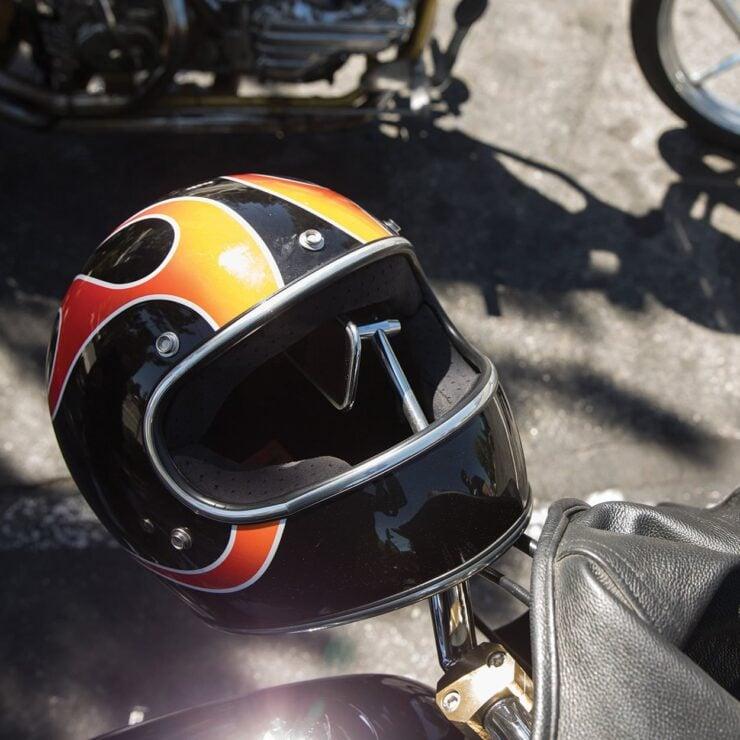 Biltwell Gringo ECE Dice Flame Helmet 2