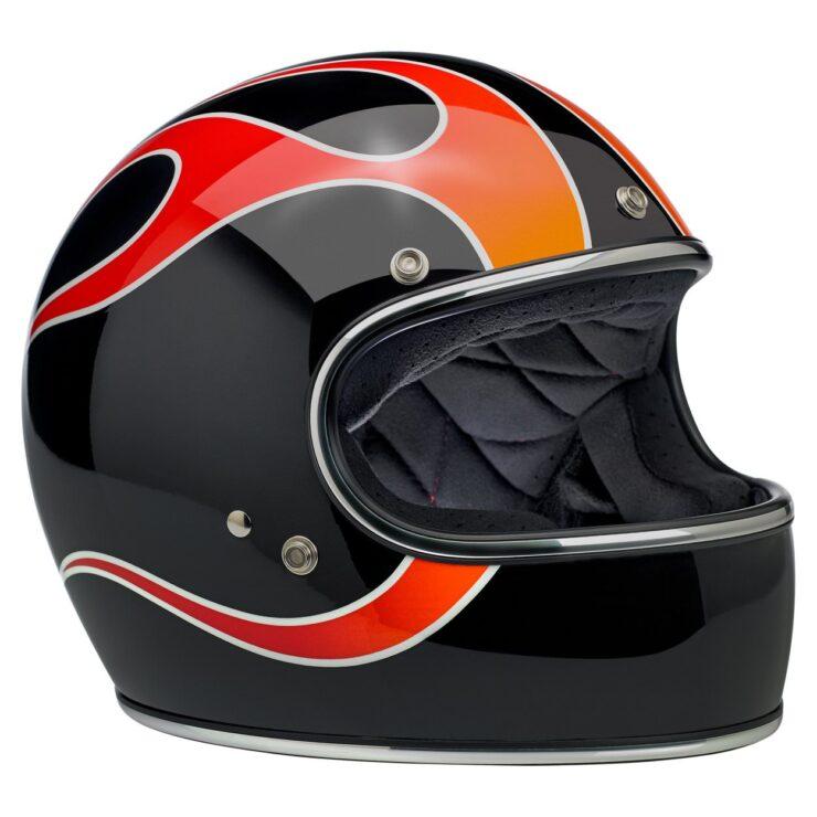 Biltwell Gringo ECE Dice Flame Helmet 3