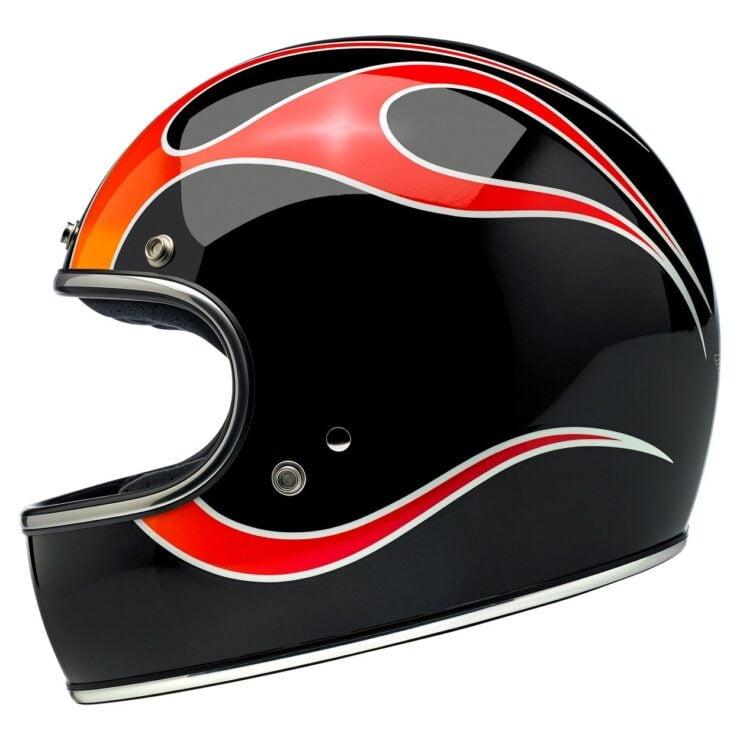 Biltwell Gringo ECE Dice Flame Helmet 5